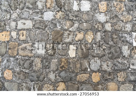 background texture of medieval castle stone wall. Background Texture Medieval Castle Stone Wall Stock Photo 23786911
