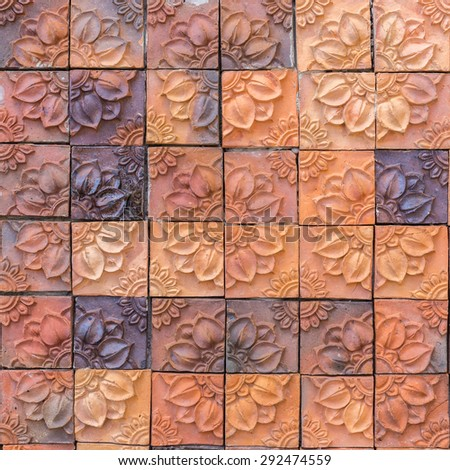 Background texture of old vintage brick wall - stock photo