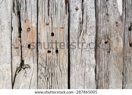 background texture of old wooden fence surface - stock photo