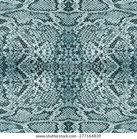 Background - texture of snake skin - Reptiles - Blue