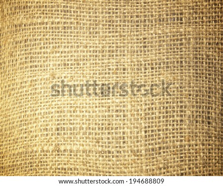 Background texture of the bag hemp. - stock photo