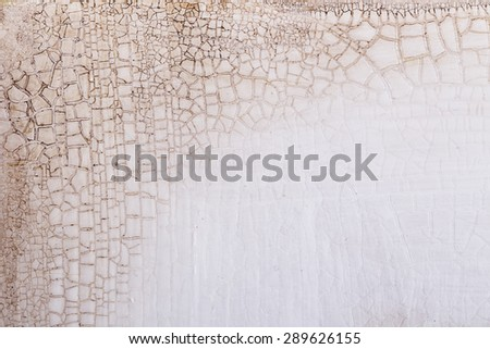 background texture of the old crack wood paint vintage - stock photo