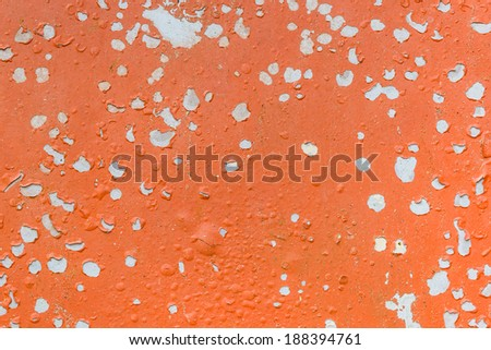 Background texture of the old cracked wall . Pattern of rustic orange grunge material. - stock photo