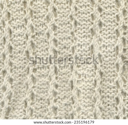 Background - texture of white crochet - stock photo