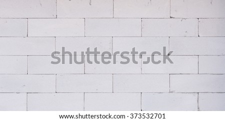 background texture of white Lightweight Concrete block, Foamed concrete block, raw material for industrial wall or house wall