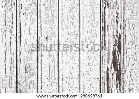 Background texture of white painted old wooden boards, Design element - stock photo