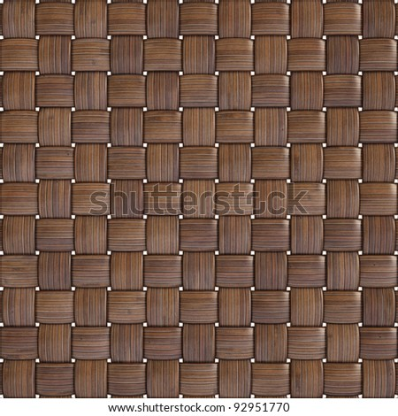 background texture of woven bamboo with natural patterns - stock photo