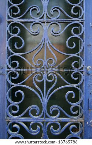 background texture, ornamental wrought-iron - stock photo