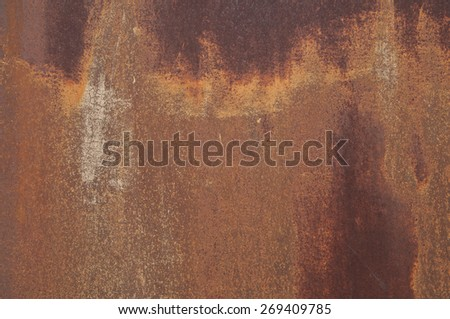 Background / Texture: rusty metal - stock photo