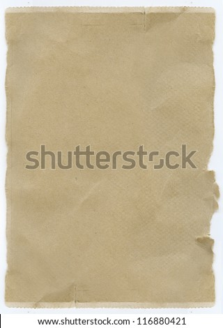 background texture torn brown paper - stock photo