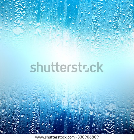 background texture water glass - stock photo
