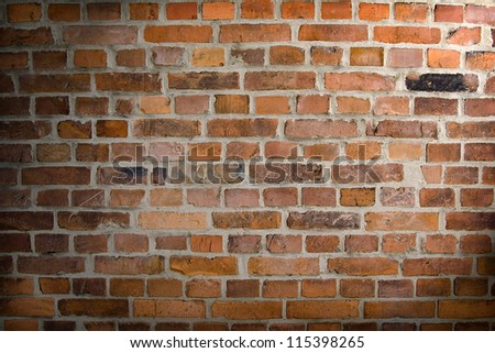 Background. The  texture of old brick wall - stock photo