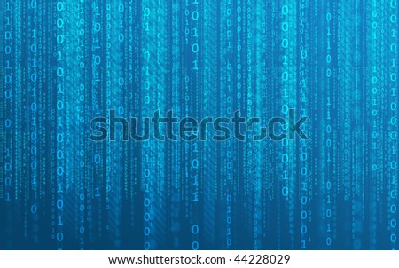 Background to use for any purpose, and presentations. Consists of falling digital numbers - stock photo
