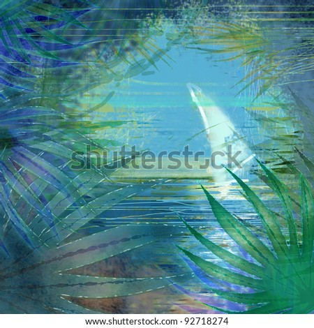 background tropical sea - stock photo