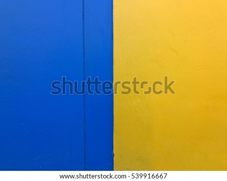 Background Two Color Blue Yellow Half Stock Photo (Royalty Free ...