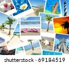 background vacation photo collage tropical - stock photo