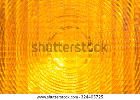 background - warning light in yellow - stock photo