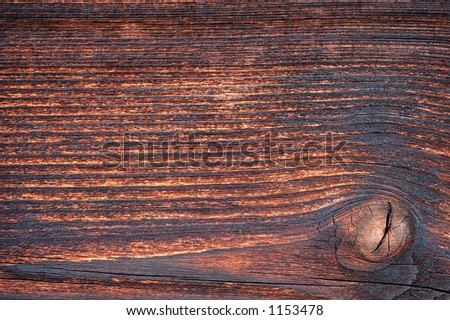 Background - Weathered pine wood with knot - stock photo