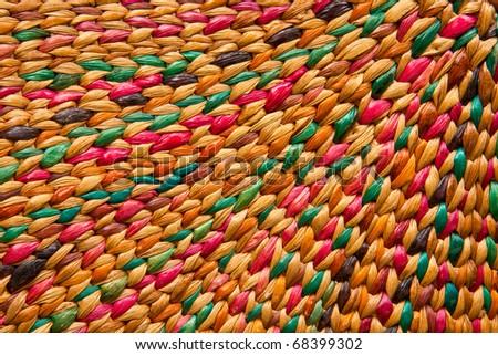background,  wicker basket - stock photo
