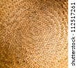 Background. Wicker texture close-up photo. Circle - stock photo