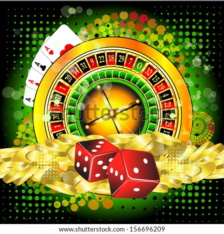 background with a casino roulette  - stock photo