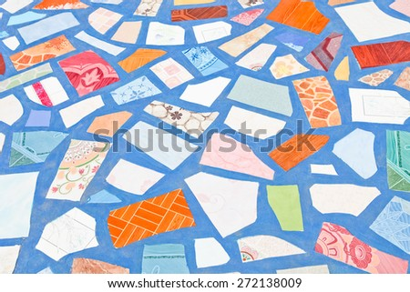 Background with a pattern of floor tiles - stock photo