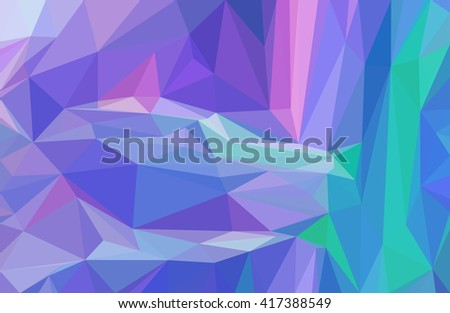 Background with Abstract Low Poly Geometrical Polygonal Colorful Pattern.  - stock photo
