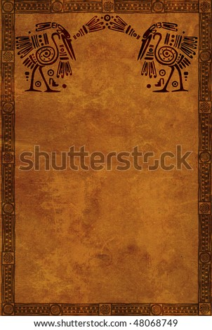 Background with American Indian national patterns - stock photo