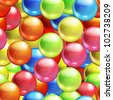 Background with balls seamless, bitmap copy - stock photo