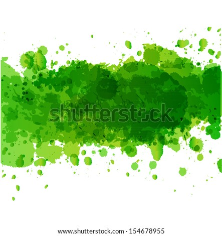 Background with big green splash and place for your text.