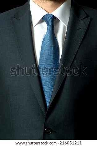 background with blue business suit