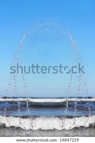 background with blue splashing water