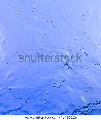 Background with blue water