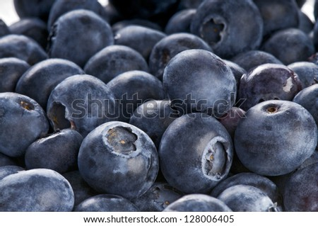 Background with blueberries - stock photo
