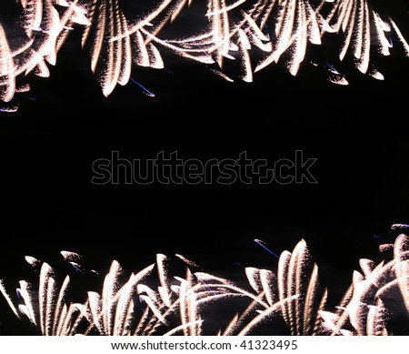 background with bright firework - stock photo