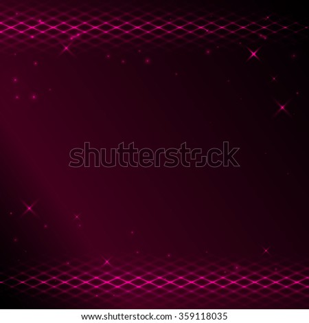background with bright tracery and stars - stock photo