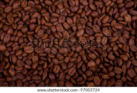Background with brown coffee