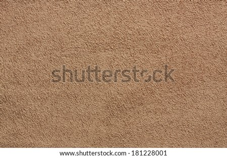Background with brown texture, velvet fabric, close-up. - stock photo