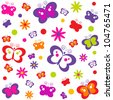 background with butterflies. Raster version - stock photo