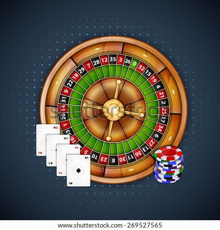 Background with chips and roulette. Casino background