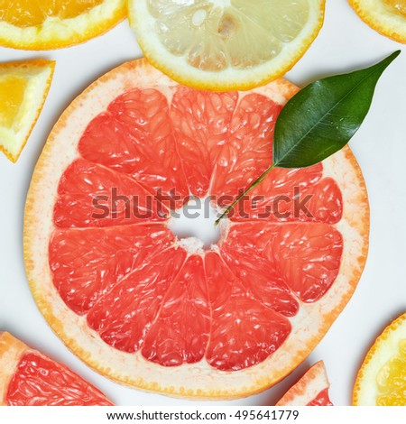 background with citrus-fruit