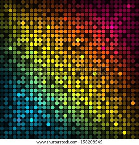 Background with colorful disco lights - stock photo