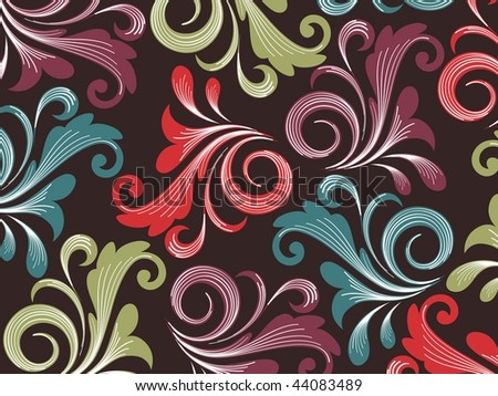 background with colorful floral pattern , illustration