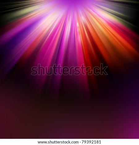 Background with Colorful LIGHT RAYS - stock photo