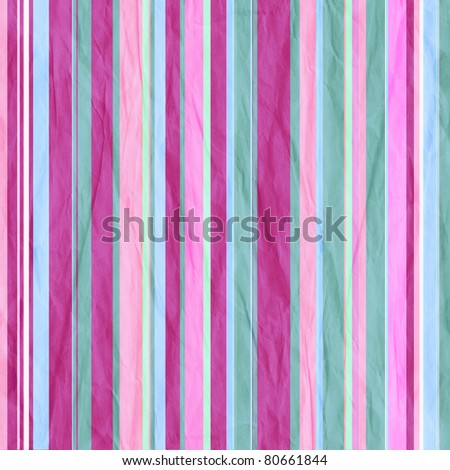 Background with colorful pink and cyan stripes - stock photo
