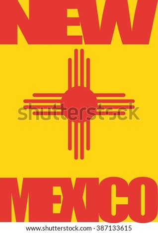 background with colors and elements from new mexico flag
