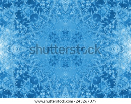 Background with concentric abstract ice pattern - stock photo