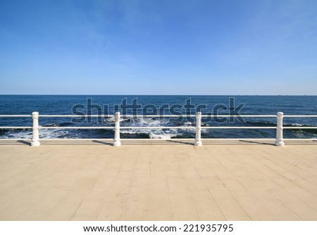 Background with Constanta Black Sea cliff - stock photo