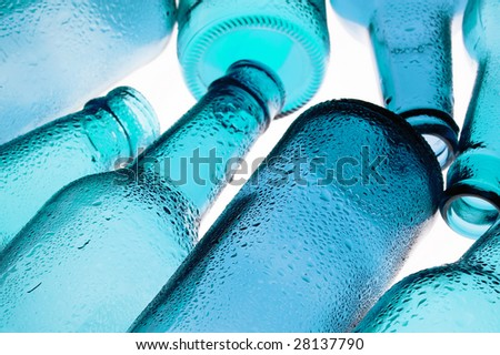 Background with creative bottle - stock photo