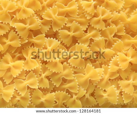 background with curly pasta - stock photo